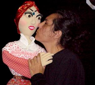 Dona Bárbara e sua intérprete, Márcia Kaskus.
